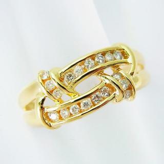 K18 ダイヤモンド リング 15号[f412-1](リング(指輪))