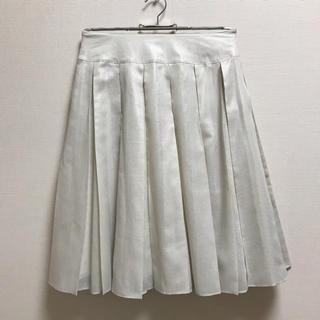 ミッシェルクラン(MICHEL KLEIN)の美品☆Michel Clein ミッシェルクラン 膝丈 プリーツスカート 34(ひざ丈スカート)