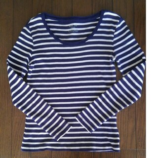 ジーユー(GU)のGU Sサイズ ボーダーTシャツ(Tシャツ(長袖/七分))