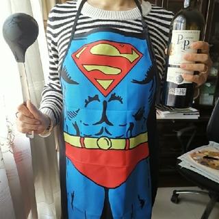 スーパーマン!エプロン ★コスプレ、クッキング、気分転換、変身、パロディに!(その他)