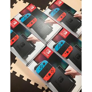 ニンテンドースイッチ(Nintendo Switch)の新品 スイッチ5台 ネオンカラー(家庭用ゲーム機本体)
