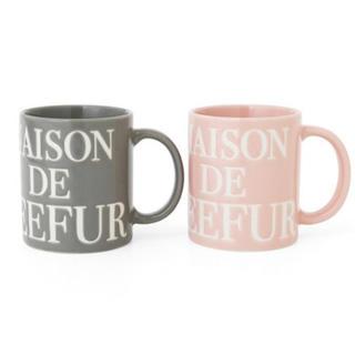 メゾンドリーファー(Maison de Reefur)のMAISON DE REEFUR * リーファーロゴマグカップ(グラス/カップ)