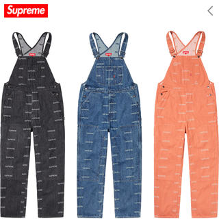 シュプリーム(Supreme)の19SS Supreme Logo Denim Overalls Black S(サロペット/オーバーオール)