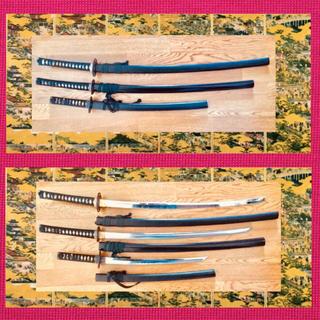 日本刀 模造刀 金属製 レプリカ 大小 三本セット(武具)