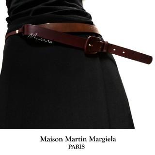 マルタンマルジェラ(Maison Martin Margiela)の【新品】 メゾン マルタン マルジェラ レザー ベルト ワインレッド ボルドー(ベルト)