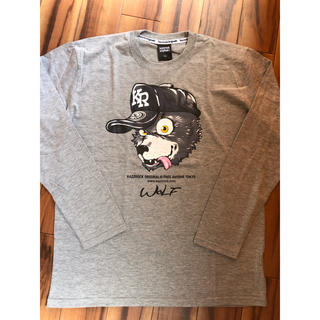 カズロックオリジナル(KAZZROCK ORIGINAL)の新品☆Kazzrock Original WOLF グレー(Tシャツ/カットソー(七分/長袖))