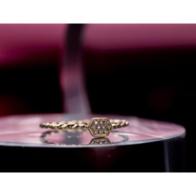 新品 ダイヤモンド リング  K18 レディースのアクセサリー(リング(指輪))の商品写真