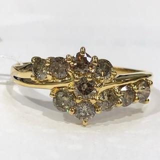 K18 シャンパンブラウンダイヤモンド リング 1.00ct(リング(指輪))