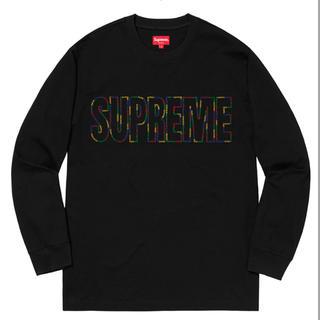 シュプリーム(Supreme)の定価以下! supreme International L/S Tee 黒 M(Tシャツ(長袖/七分))
