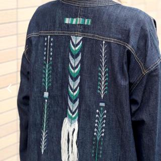 チチカカ(titicaca)のチチカカ  グアテマラ 刺繍 デニム ガウン(ガウンコート)