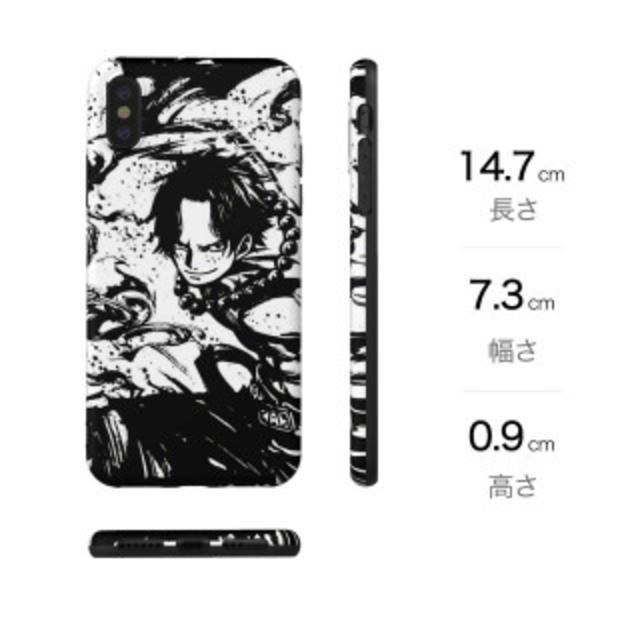 eced9f98f8 【新品】iPhoneX スマホケース ワンピース one piece エース スマホ/家電/カメラのスマホ