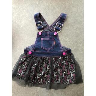 バービー(Barbie)のBarbieデニム ジャンパースカート80(ワンピース)