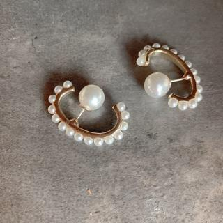 ナノユニバース(nano・universe)の#458 import pierce : pearl earcufft type(ピアス)