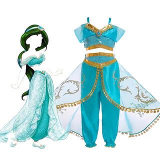 衣装 ジャスミンプリンセス ディズニー ズボン プレゼント 誕生日 120(衣装一式)