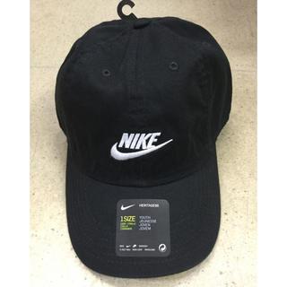 ナイキ(NIKE)のナイキ  キッズキャップ 黒生地 新品 未使用 送料込み 子供サイズ(帽子)