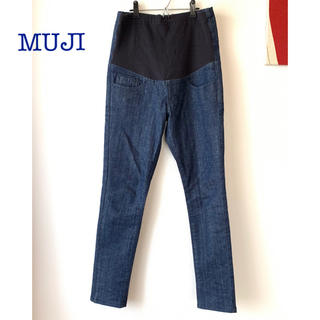 ムジルシリョウヒン(MUJI (無印良品))の無印良品 MUJI マタニティスキニーデニム ほぼ未使用 XS ネイビー (マタニティボトムス)