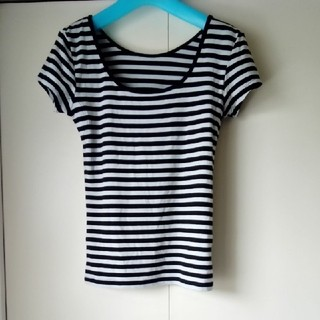 ベルーナ(Belluna)のベルーナ ボーダーTシャツ LL(Tシャツ(半袖/袖なし))