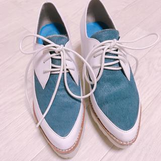 ジェフリーキャンベル(JEFFREY CAMPBELL)の限定SALE♥️ジェフリーキャンベル🧡ハラコチャンキーヒールブーツ😍💐(ローファー/革靴)