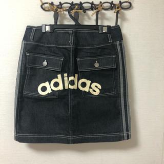 アディダス(adidas)のadidasデニムミニスカート(ミニスカート)