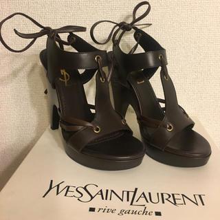 サンローラン(Saint Laurent)の再値下げ 新品 イヴ・サンローラン サンダル(サンダル)