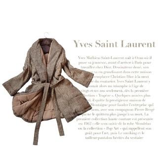 サンローラン(Saint Laurent)の超高級 イブサンローラン 一級品めちゃかわエレガントダウンコート ガウンスタイル(ガウンコート)