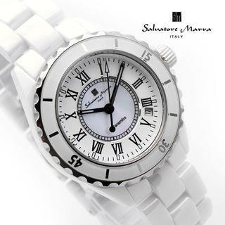 サルバトーレマーラ(Salvatore Marra)のサルバトーレマーラ 腕時計 メンズ ホワイト セラミック ブランド(腕時計(アナログ))