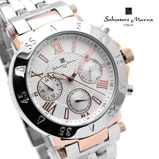 サルバトーレマーラ(Salvatore Marra)のサルバトーレマーラ 腕時計 メンズ デイデイト ホワイト シルバー(腕時計(アナログ))
