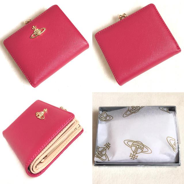 人気カラー ヴィヴィアンウエストウッド がま口 財布 正規品 新品 二つ折り財布