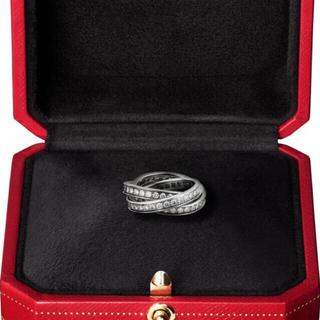 カルティエ(Cartier)のカルティエ トリニティ リング フルエタニティ×WG #50(リング(指輪))