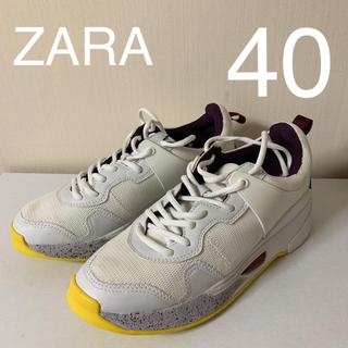 ザラ(ZARA)の新品  ZARA  インソール  厚底  ダッドスニーカー 40(スニーカー)