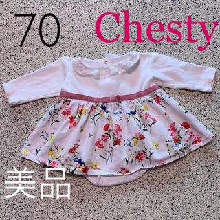 チェスティ(Chesty)の最終価格💖美品✨チェスティ バードフラワー💐🦜ワンピース 70 日本製(ワンピース)