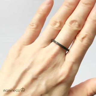 19号サイズ ステンレス製 ブラックザラザラリング 幅2mm 指輪 (リング(指輪))