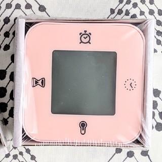 イケア(IKEA)の[新品未使用] IKEA 置時計 ライトピンク(置時計)