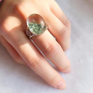 【大粒】天然グリーン ガーデンクォーツ リング(リング(指輪))