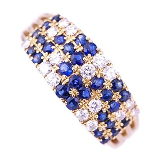 Queen Jewelry クイーン ジュエリー リング サファイア ダイヤ (リング(指輪))