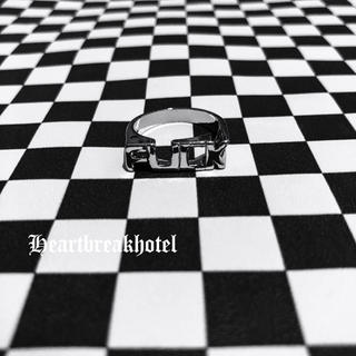 ♱ Vintage Silver Fuck logo unisex ring(リング(指輪))