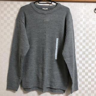 ジーユー(GU)のGU / ワッフルクルーネックセーター(ニット/セーター)