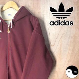 アディダス(adidas)のadidas アディダス オリジナル フード ボア ジャケット コート パーカー(ブルゾン)