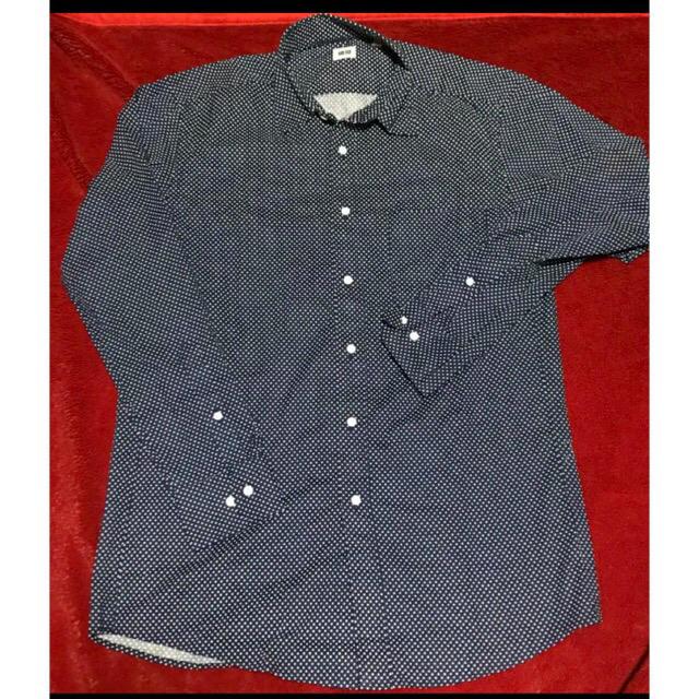 UNIQLO(ユニクロ)のUNIQLO 長袖シャツ ドット柄 メンズのトップス(シャツ)の商品写真