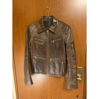 ポールスミス(Paul Smith)のポールスミス  ライダースジャケット 牛革 XS(ライダースジャケット)