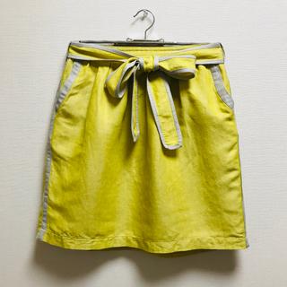 トランテアンソンドゥモード(31 Sons de mode)の31 Sons de mode 膝丈台形スカート マスターイエロー 36(ひざ丈スカート)