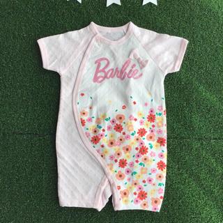 バービー(Barbie)の⚠️交渉中【 60 - 70 】 バービー ロゴラメ 花柄 ロンパース(ロンパース)