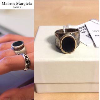 マルタンマルジェラ(Maison Martin Margiela)の新品■L■マルジェラ 17aw■オーバルリング■シルバー■指輪■5257(リング(指輪))