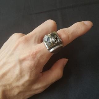 ルパート(RUPERT)の迫力大!ルパートスカルリング 髑髏指輪 豪華ストーン(リング(指輪))