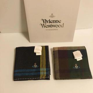 ヴィヴィアンウエストウッド(Vivienne Westwood)の2枚⭐️ 新品 ヴィヴィアン ウエストウッド ハンカチ ⑥ ギフトにも♡(ハンカチ/ポケットチーフ)