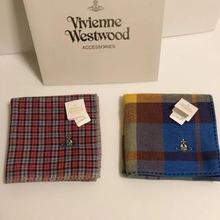 ヴィヴィアンウエストウッド(Vivienne Westwood)の新品⭐️ ヴィヴィアン ウエストウッド ハンカチ 2枚 ⑨ ギフトにも❣️(ハンカチ/ポケットチーフ)