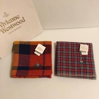 ヴィヴィアンウエストウッド(Vivienne Westwood)の2枚❣️新品⭐️ ヴィヴィアン ウエストウッド ハンカチ オーブ刺繍⑩ ギフトに(ハンカチ/ポケットチーフ)