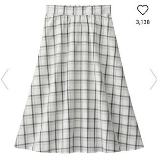 ジーユー(GU)の♥新品♥チェックフレアミディスカート(ひざ丈スカート)