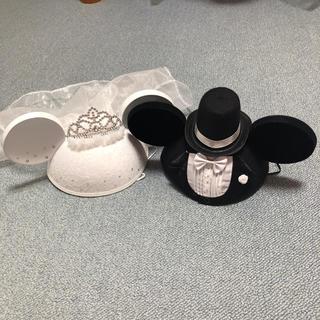 ディズニー(Disney)のミッキー ミニー ウエディング イヤーハット ディズニー ウェルカムスペース(ウェルカムボード)