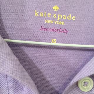 ケイトスペードニューヨーク(kate spade new york)の一度のみ着用#淡いパープルのポロシャツ(Tシャツ(半袖/袖なし))